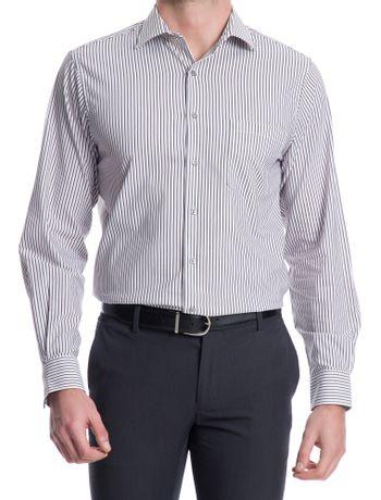 Camisa-Traveller-Listrada-Manga-Longa-Regular-Masculino-Branca