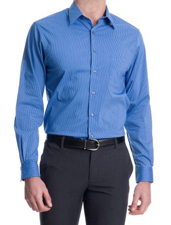 Camisa-Traveller-Listrada-Manga-Longa-Regular-Masculino-Azul