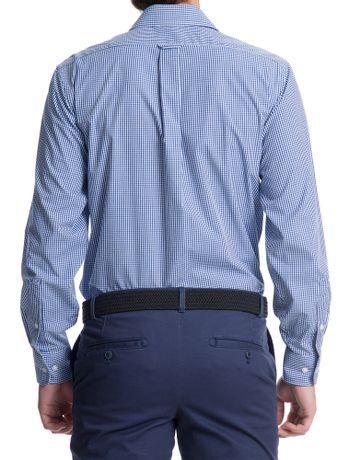 Camisa-Xadrez-Manga-Longa-Regular-Masculino-Azul
