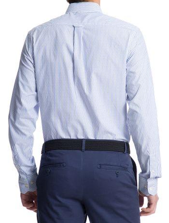 Camisa-Listrada-Manga-Longa-Slim-Masculino-Azul