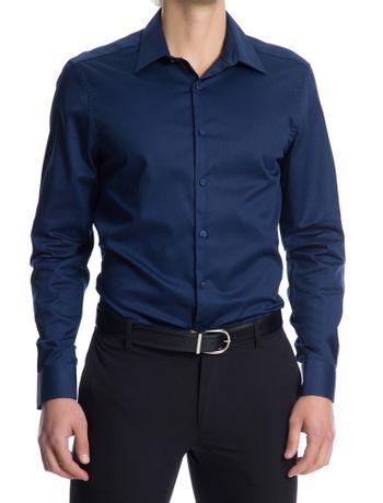 Camisa-Manga-Longa-Slim-Fit-Van-Heusen---Azul-Marinho