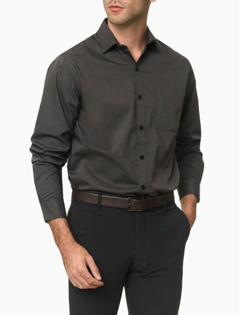 Camisa-Manga-Longa-Regular-Micro-Padrao-Van-Heusen---Preto