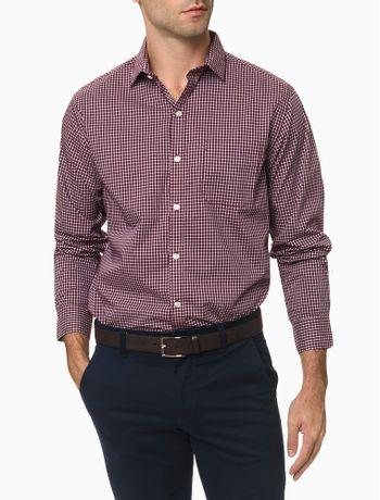 Camisa-Manga-Longa-Regular-Xadrez-Bicolor-Van-Heusen---Bordo