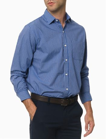 Camisa-Manga-Longa-Regular-Xadrez-Van-Heusen---Azul-Medio