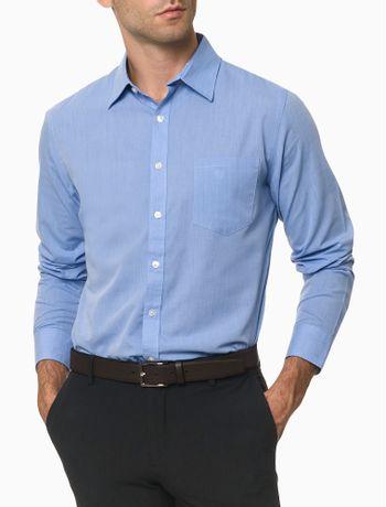 Camisa-Manga-Longa-Slim-Never-Tuck-Van-Heusen---Azul-Claro