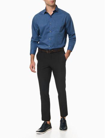 Camisa-Manga-Longa-Regular-Micro-Padrao-Van-Heusen---Azul-Claro