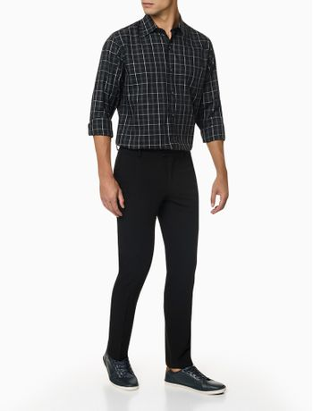 Camisa-Manga-Longa-Regular-Maxi-Xadrez-Van-Heusen---Preto
