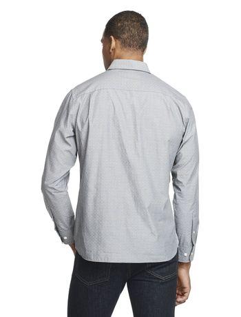 Camisa-Manga-Longa-Slim-Mini-Jacquard-Van-Heusen---Cinza-Medio