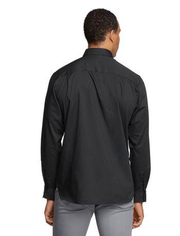 Camisa-Manga-Longa-Slim-Tricoline-Basica-Van-Heusen---Preto