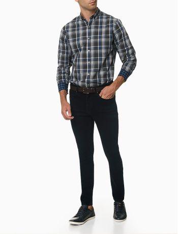 Camisa-Manga-Longa-Slim-Maxi-Xadrez-Van-Heusen---Preto