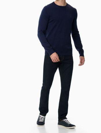 Sueter-Tricot-Basico-Regular-Masculino-Azul-Marinho