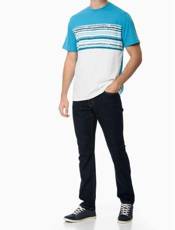 Camiseta-Manga-Curta-Faixa-Listra-Regular-Masculino-Azul-Claro